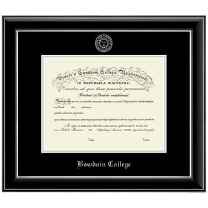 Embossed Onyx Silver Diploma Frame