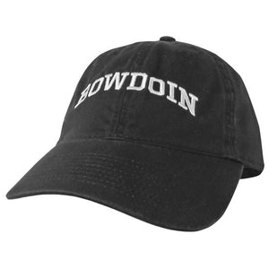 Black Fitted Hat with Bowdoin