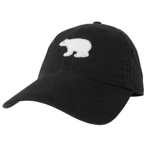 X-Large Black Twill Hat With Bear