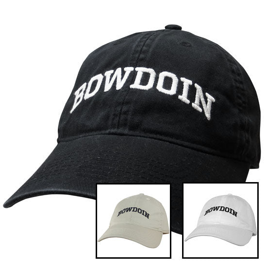 Relaxed Twill Hat with Arched Bowdoin