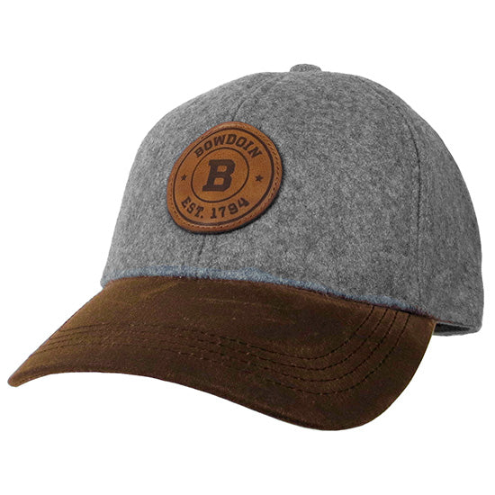 de013f836 Gray Wool Hat with Leather Patch from Legacy – The Bowdoin Store