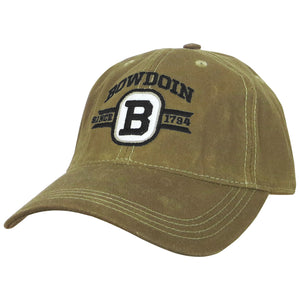 Bowdoin Since 1794 Waxed Cotton Hat from Legacy