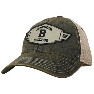 Old Favorite Trucker with Bowdoin College Patch from Legacy