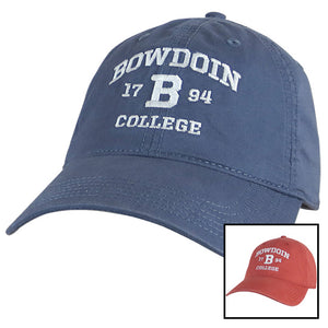 Montage of Bowdoin College 1794 ball caps