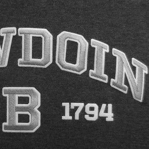 Bowdoin Est. 1794 Charcoal Hamden Hood from Blue 84
