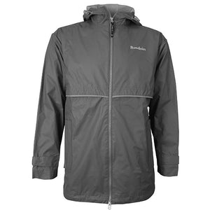Gray New Englander Rain Jacket from Charles River