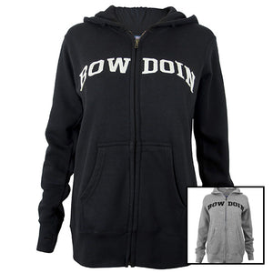 Women's Full Zip Hood with Bowdoin Appliqué from MV Sport