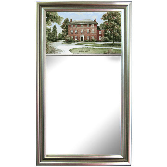 Large Colorprint Mirror from Eglomisé