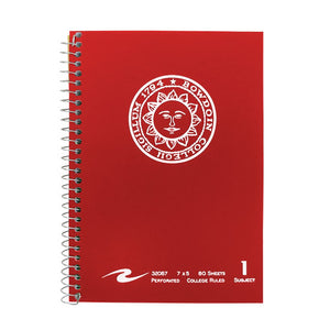 5x7 Bowdoin Seal Notebook