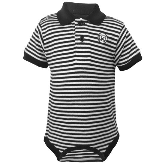 Striped Polo Diaper Shirt from Creative Knitwear