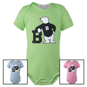 Bowdoin Spirit Bear Diaper Shirt from Third Street