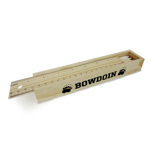 Wooden Bowdoin Pencil Box
