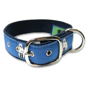 Belted Cow Dog Collar with Buckle