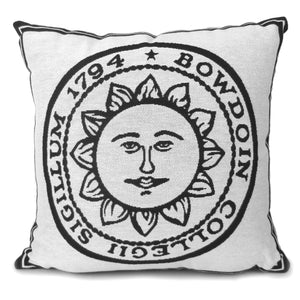 Woven Bowdoin Seal Throw Pillow