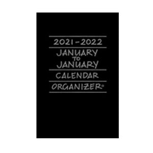Cover of black 2021-2022 January to January calendar/organizer