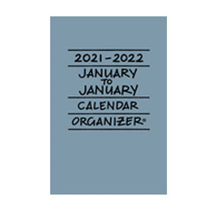 Cover of slate blue 2021-2022 January to January calendar/organizer