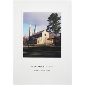 Poster of the east view of the Bowdoin College Chapel