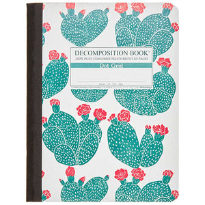 Tapebound Decomposition Book with cover imprint of beavertail cacti.