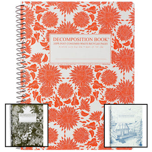 Main image of coilbound Decomposition books showing 3 of the various styles available.