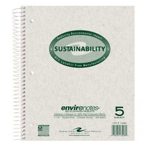 Environotes 5 Subject Notebook