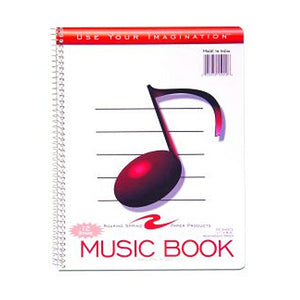12 Stave Music Notebook