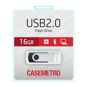 USB flash drive on blister card.