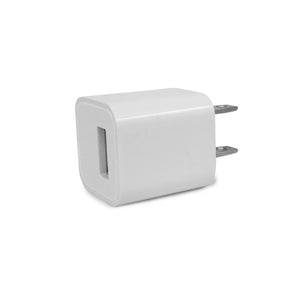 White USB wall charger.