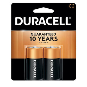 2-pack of Duracell C batteries.