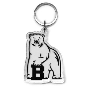 bowdoin polar bear clear key tag