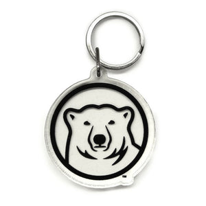 bowdoin polar bear medallion clear key tag