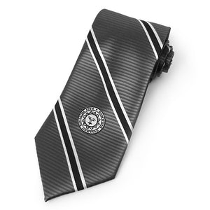 Striped Tie with Bowdoin Sun Seal