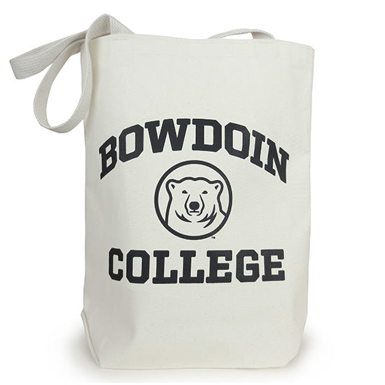 Canvas Tote with Bowdoin College & Medallion