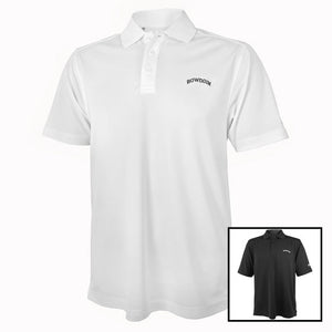 Montage of white and black Under Armour polo shirts.