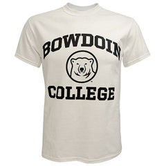 Bowdoin College Tee with Mascot Medallion from MV Sport