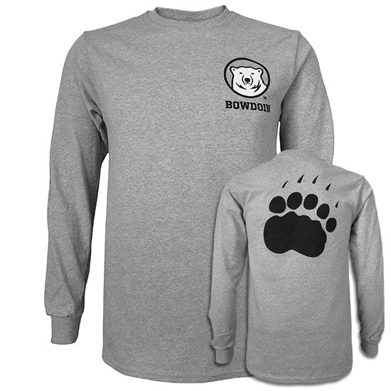 Long-Sleeved Tee with Mascot Medallion and Paw Back from MV Sport