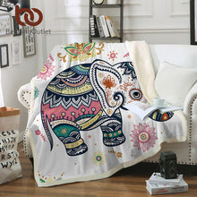 Load image into Gallery viewer, Elephant Throw Blanket