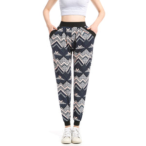 Zig-Zag Pattern Sweatpants