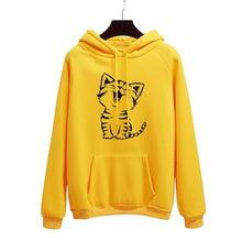 Load image into Gallery viewer, Cartoon Kitten Pullover Hoodie