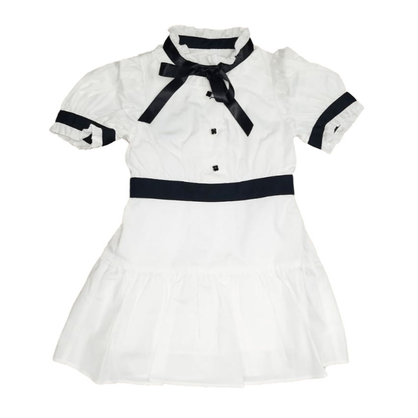 Aisabobo Aisabobo Sofia White Dress  JellyBeanz Kids