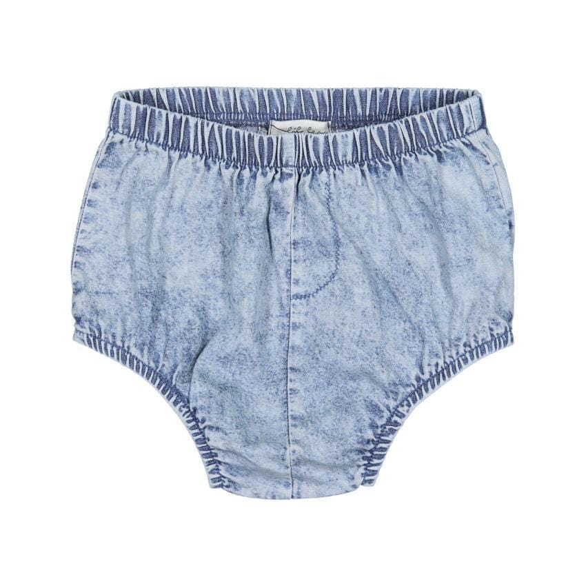 Analogie by Lil Legs Blue Wash Denim Bloomer  JellyBeanz Kids