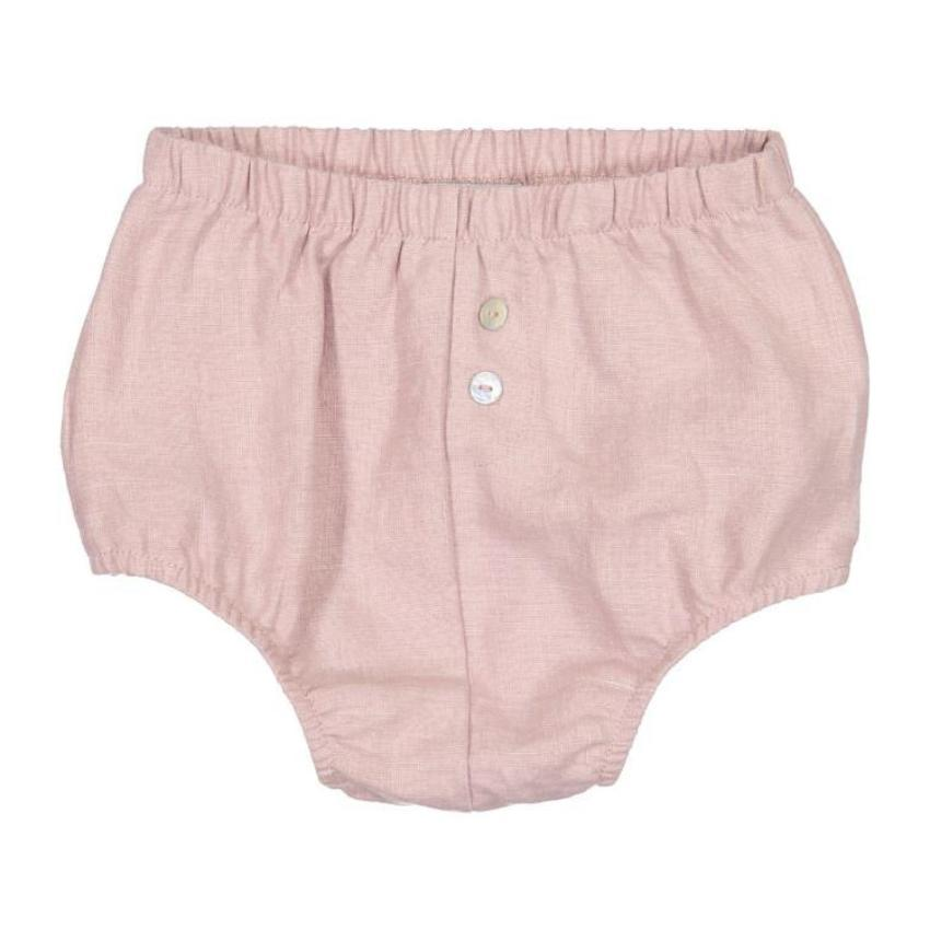 Analogie by Lil Legs Mauve Linen Bloomer  JellyBeanz Kids