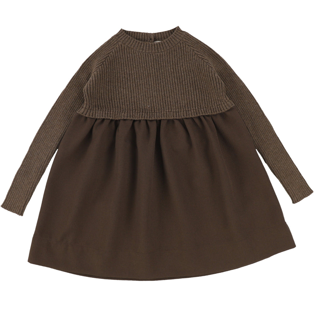 Analogie by Lil Legs Dark Walnut Knit Dress