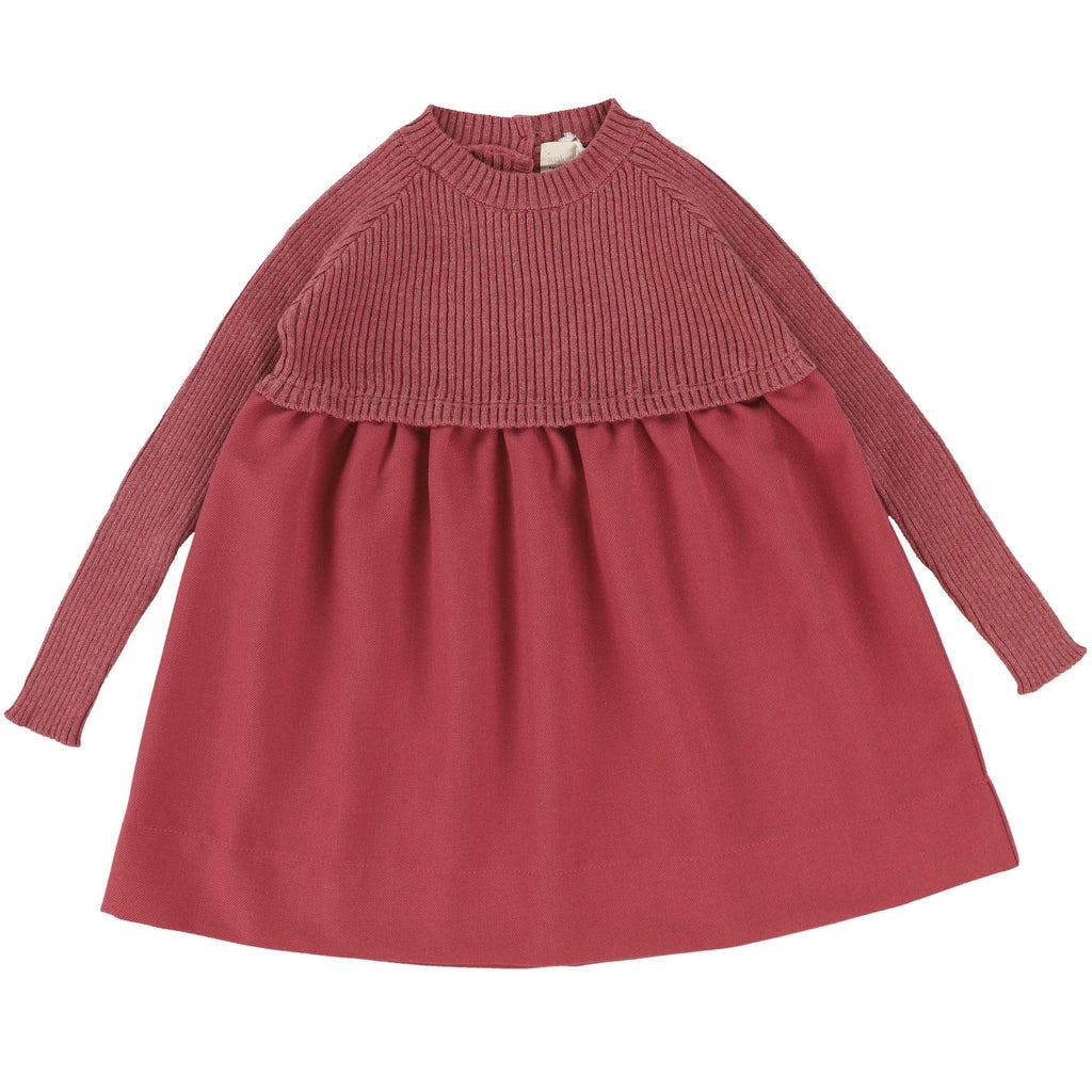 Analogie by Lil Legs Mauve Knit Dress