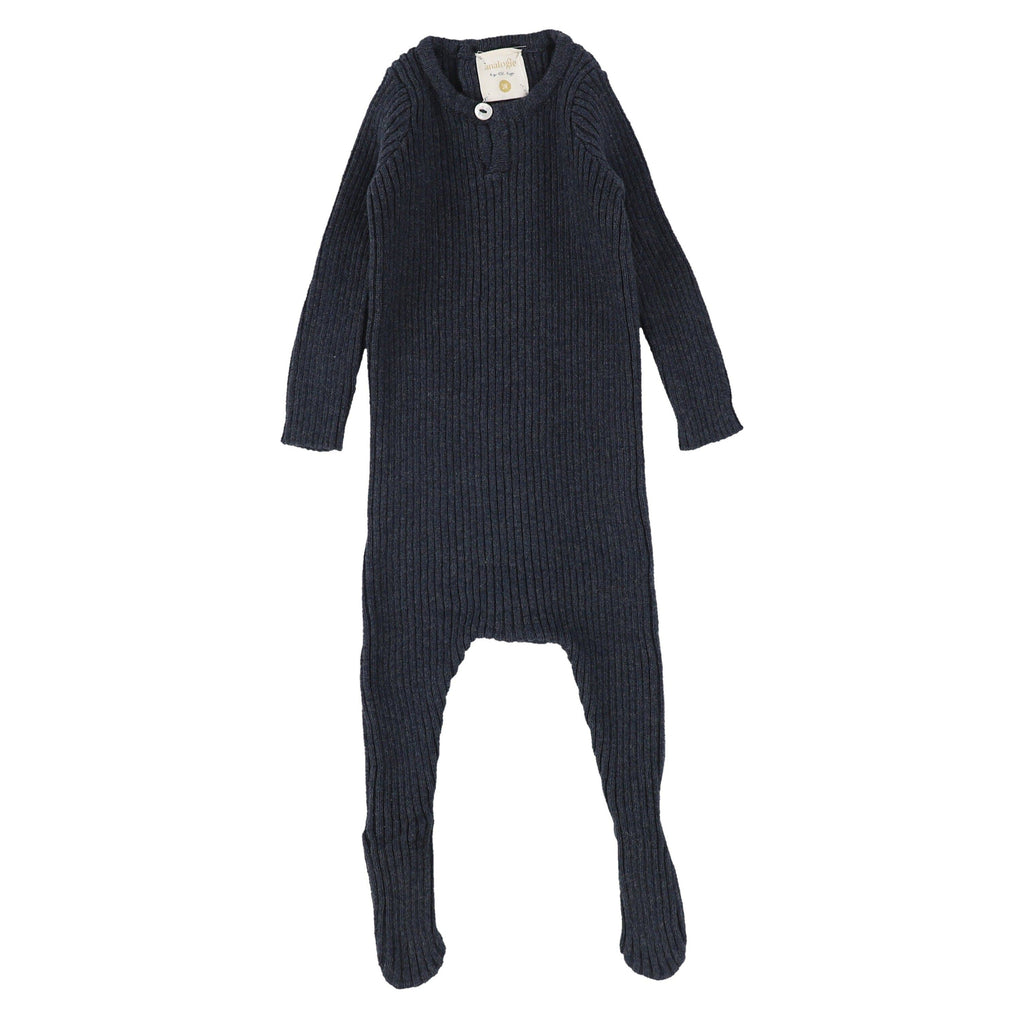 Analogie by Lil Legs footie Jellybeanzkids Analogie by Lil Legs Indigo Knit Footie