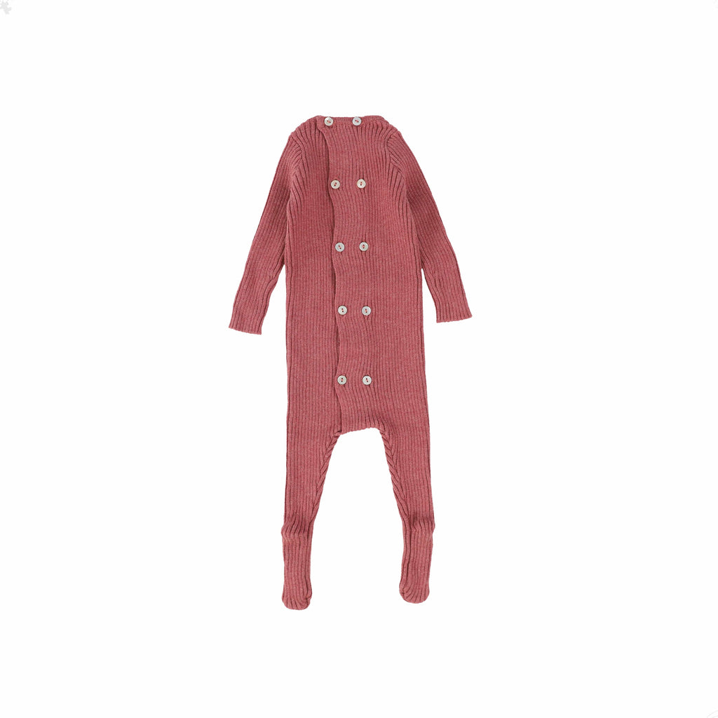 Analogie by Lil Legs footie Jellybeanzkids Analogie by Lil Legs Mauve Knit Footie