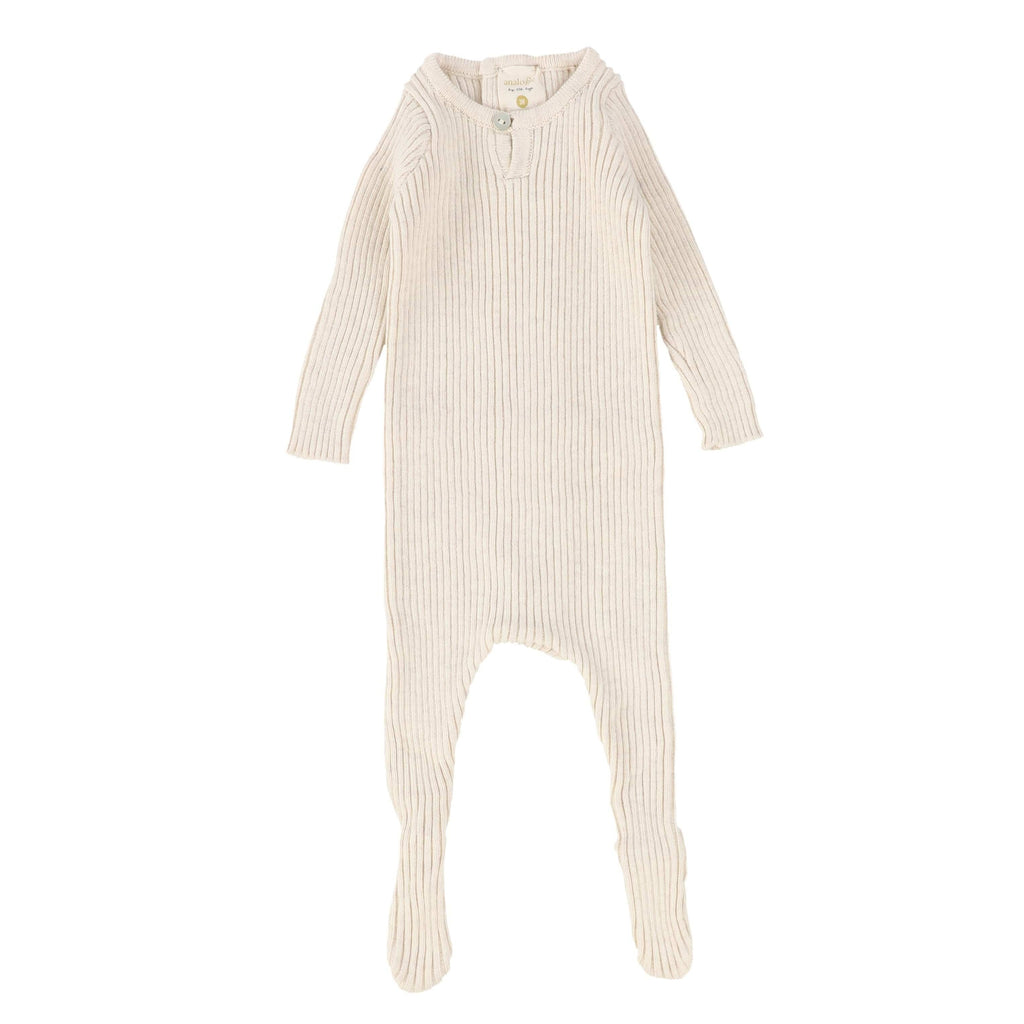 Analogie by Lil Legs Vintage Ecru Knit Footie