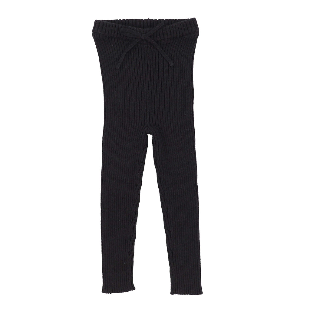 Analogie Black Knit Long Leggings - JellyBeanz Kids
