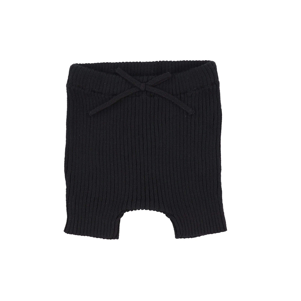 Analogie Black Knit Short Leggings - JellyBeanz Kids
