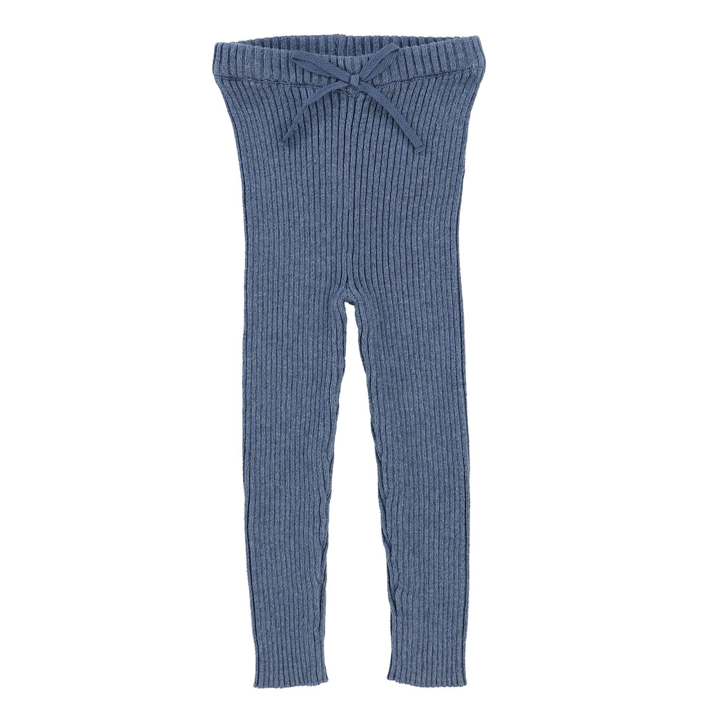 Analogie Blue Knit Long Leggings - JellyBeanz Kids