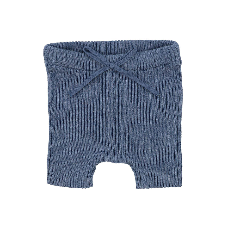 Analogie by Lil Legs Leggings Jellybeanzkids Analogie Blue Knit Short Leggings